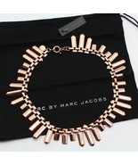 MARC BY MARC JACOBS 'Standard Supply' ID Plaque Collar Necklace ROSE Gol... - ₨6,079.92 INR