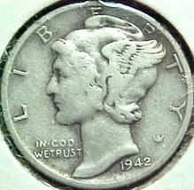 Mercury Dime 1942-S F - $4.84