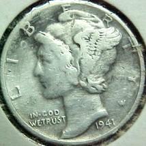 Mercury Dime 1941  Fine - $4.84