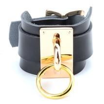 1 Pair/Set Handmade Leather Cuff Bracelet for Women BDSM Handcuff Clear PVC Chun - $32.31