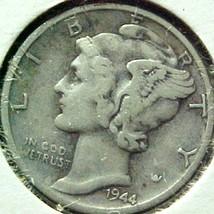 Mercury Dime 1944-S VG - $4.94