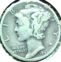 Mercury Dime 1941  Very Good - $4.84