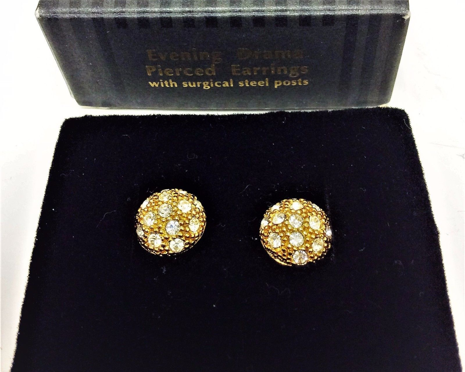 65ecf8846 57. 57. Previous. NEW AVON Evening Drama Pierced Earrings w/ Surgical Steel Post  Gold Tone Earring · NEW AVON Evening Drama ...