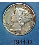Mercury Dime 1944-D VF - $10.04
