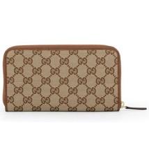 NEW Gucci Women's Beige Brown GG Guccissima Zip Wallet Clutch Card Case ... - $372.13