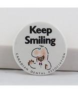 Vintage Dental Pin - Keep Smiling Canadian Dental Association - Celluloid Pin - €13,84 EUR