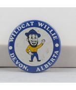 Vintage Tourist Pin - Wildcat Willie Devon Alberta - Celluloid Pin - €13,84 EUR