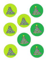 Scallop Circles Tree36 -Download-ClipArt-ArtClip-Digital Tags-Digital - $4.00