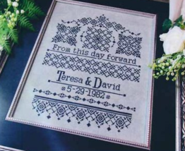 From This Day Forward cross stitch chart T.A. Smith Designs  - $7.20