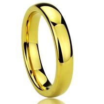 4MM Gold Plated Titanium Wedding Engagement Ring Sizes 5-11 w/ Half-Sizes - $29.95