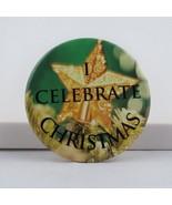 Vintage Christmas Pin - I Celebrate Christmas Star Pin - Celluloid Pin  - €13,84 EUR