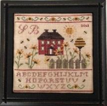 Sunflower Cottage Sewing Box cross stitch chart Mani di Donna - $21.60