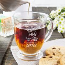Custom Engraved Glass Coffee Mug Extra Large , 16 oz. - $26.99