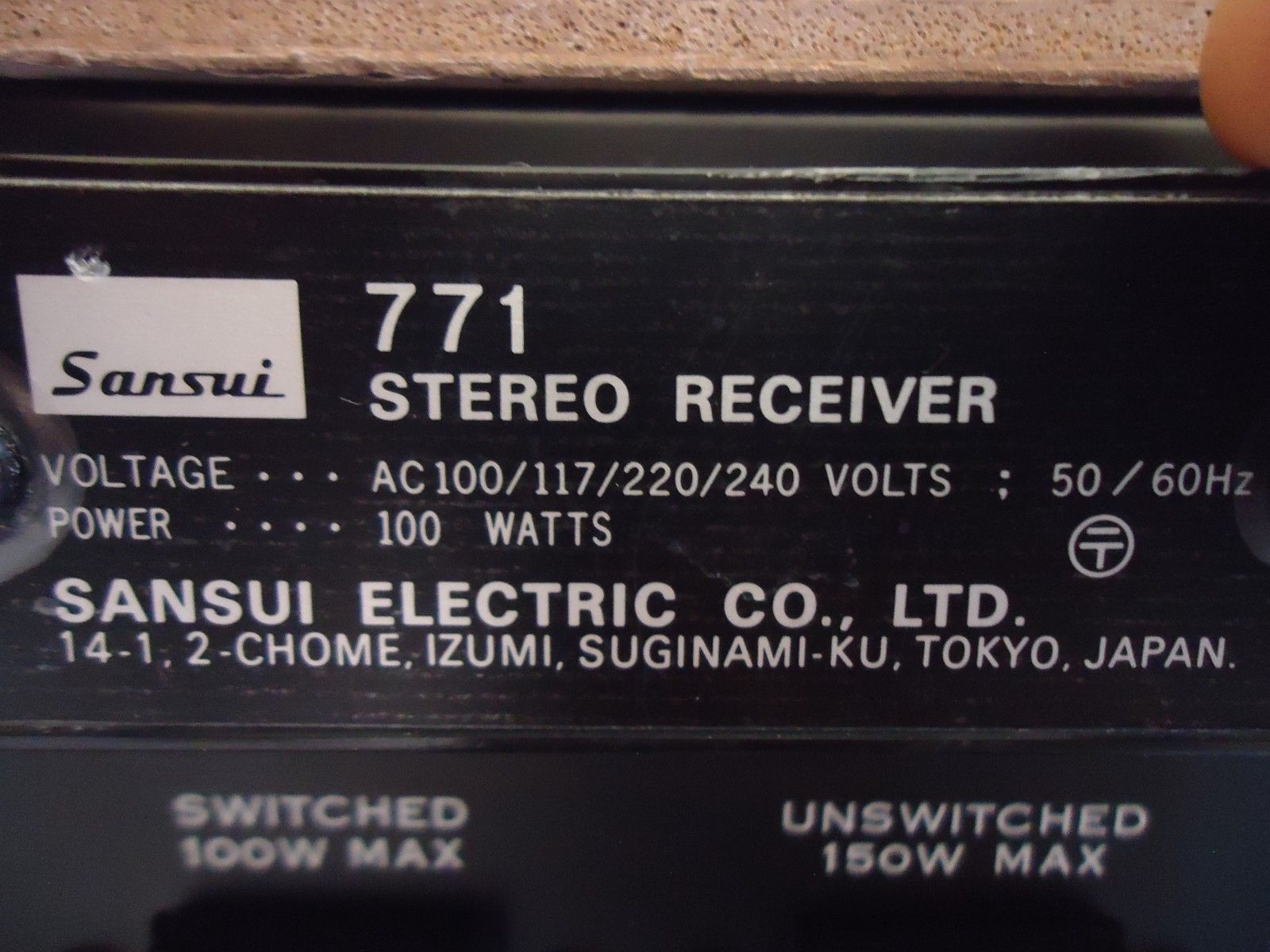 Sansui 771 Stereo Receiver , See Video ! and 50 similar items