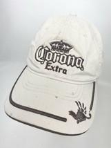 Corona Extra OSFA Hat Khaki Tan Distressed Faded  - $16.82