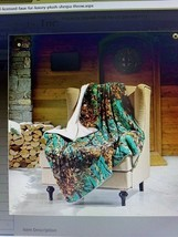 Oversized Throw Blanket TEAL CAMO WOODS Camouflage Sherpa Ultra Plush Soft - €29,02 EUR