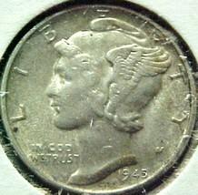 Mercury Dime 1945-D EF - $8.04