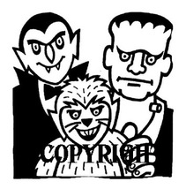 COUNT, FRANK AND WEREWOLF brand new mounted rubber stamp - $8.00