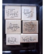 """Stampin Up Whimsical Words set of 6 """"Retired"""" NEW!! Mounted - $18.57"""