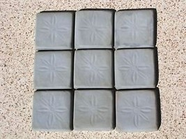 Daisy Pattern Tile Molds (12-4x4) Make 100s Wall Counter Floor Tiles for Pennies image 3