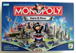 Monopoly Here and Now America Has Voted! Board Game Hasbro - $63.91