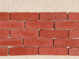 45- 8X2 ANTIQUE BRICK VENEER SIDE MOLDS, MOULDS FOR WALLS FLOORS PATIO COUNTERS image 2