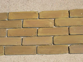 45- 8X2 ANTIQUE BRICK VENEER SIDE MOLDS, MOULDS FOR WALLS FLOORS PATIO COUNTERS image 3