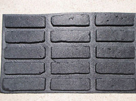 45- 8X2 ANTIQUE BRICK VENEER SIDE MOLDS, MOULDS FOR WALLS FLOORS PATIO COUNTERS image 6