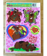 1999 Cartoon Network SCOOBY DOO Static Cling Window Decorations Reusable... - $11.95