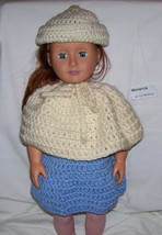 American Girl Hat and Poncho, Handmade Crochet, 18 Inch Doll - $15.00