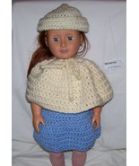American Girl Hat and Poncho, Handmade Crochet, 18 Inch Doll - $20.00