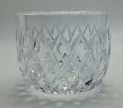 """Signed Orrefors Diamond Cut Crystal Bowl 4"""" Faceted Thick D3994-111 Vintage - $125.77"""