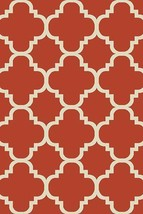 PREMIUM 3D Hand Carved Modern 3x5 4x6 Rug Contemporary 4518 Terracotta O... - $75.00