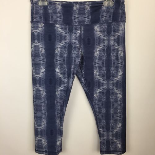 Primary image for SCORPIO SOL Womens Sz Medium Yoga Capri Running Pant Tie Dye Blue White