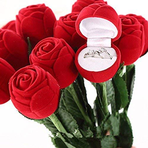 Jewelry Rose Box Wedding Engagement Ring Valentine Gift Box Case - One Rose Box