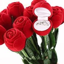 Jewelry Rose Box Wedding Engagement Ring Valentine Gift Box Case - One Rose Box