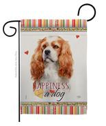 Cavalier King Spaniel Happiness - Impressions Decorative Garden Flag G16... - $19.97