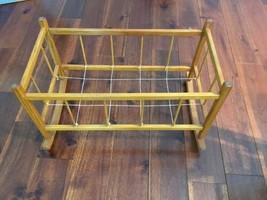 Vintage Baby Doll Spindle Wood Rocking Cradle Bed Crib 10.25 x 19.75 Est... - $53.22