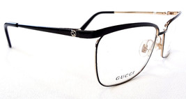 GUCCI Frame Glasses GG2885 STAINLESS STEEL Black/Gold MADE IN ITALY - New! - $179.95