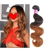 Feelgrace Hair Soft Body Wave Bundles Ombre 1B/30 Brazilian Body Wave Vi... - $36.87