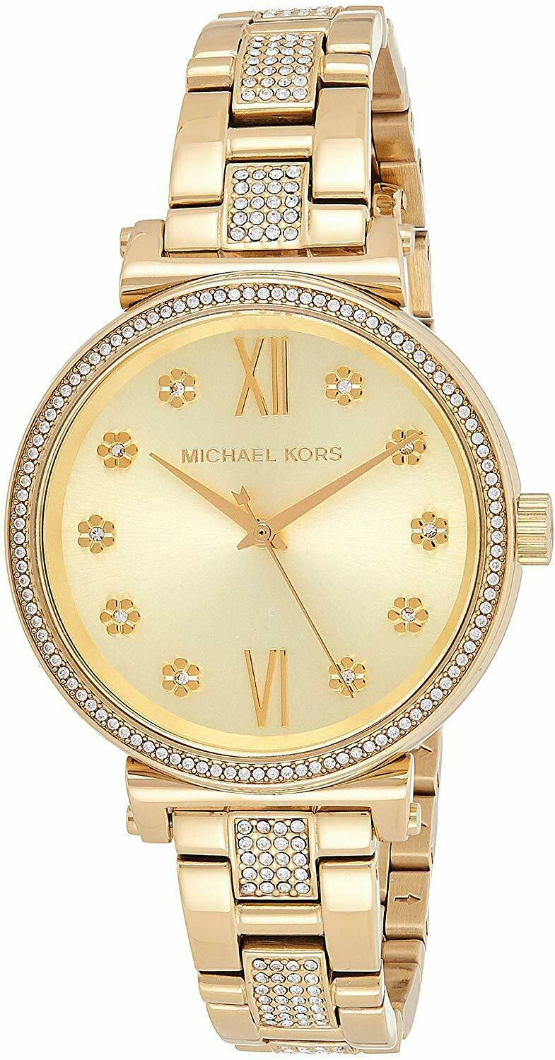 Primary image for *BRAND NEW* Michael Kors Women's Gold Tone Stainless Steel Bracelet Watch MK3881