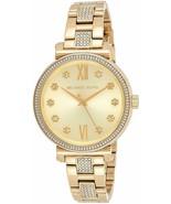 *BRAND NEW* Michael Kors Women's Gold Tone Stainless Steel Bracelet Watc... - $99.45