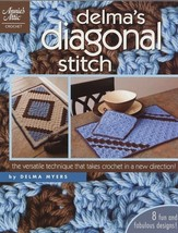 Delma's Diagonal Stitch Afghan Place Mat Rug Annie's Crochet Pattern Booklet NEW - $11.67