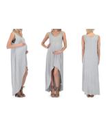 NEW Lyss Loo Women's Maternity Sleeveless Maxi Dress - Gray - Size:L - $28.40