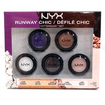 Nyx Cosmetics Runway Chic 5pcs Single EYE Shadows SET - $8.54