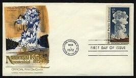 #1453 8c Old Faithful, Yellowstone, Fleetwood-Add. FDC **ANY 4=FREE SHIPPING** - $1.00