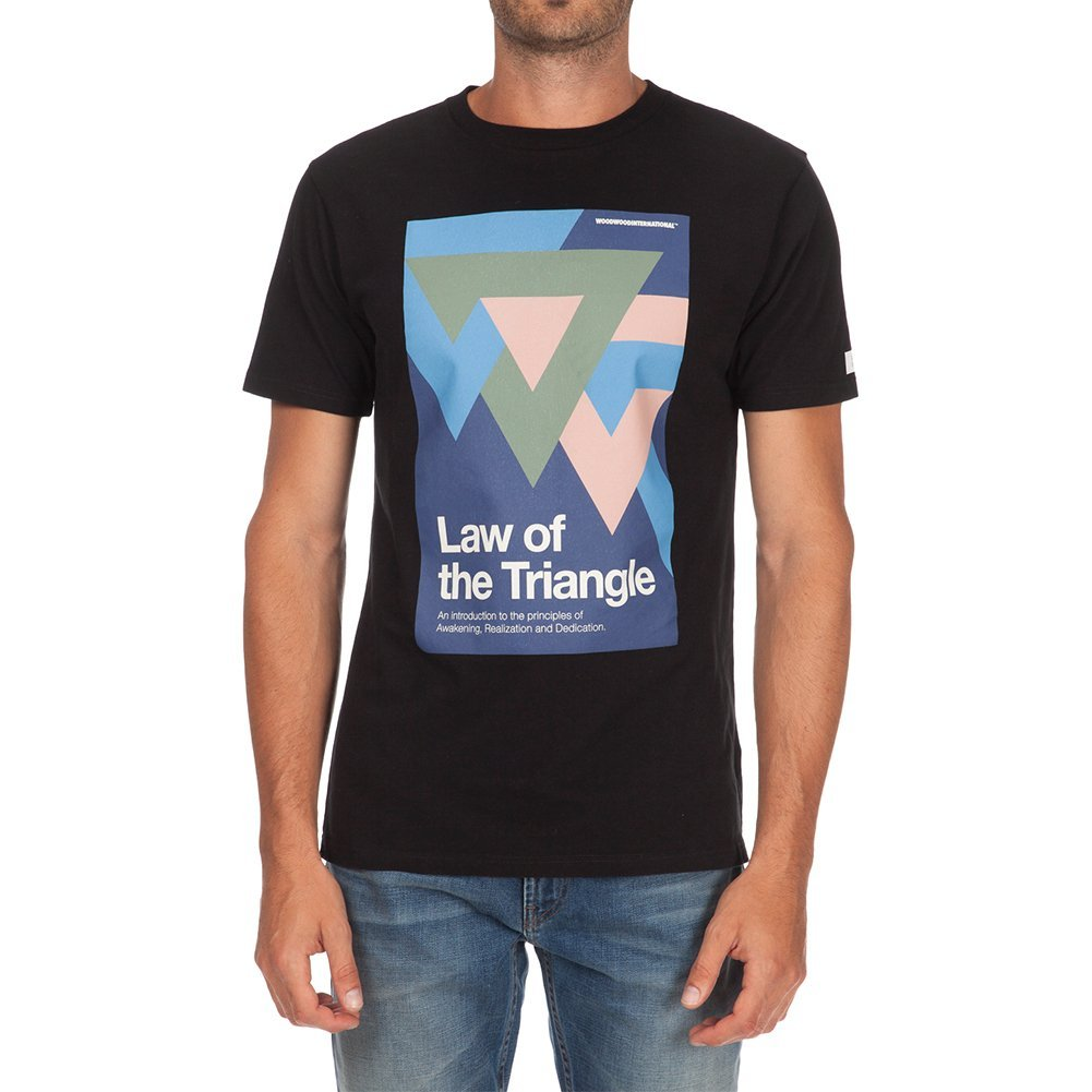 Wood Wood Men's Triangle T-shirt 11535714-2080 Black (S)