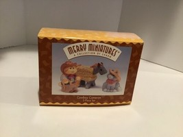 Hallmark Merry Miniatures - Cowboy Cameron - Set of 3 - 1996 - QSM8041 - $2.95