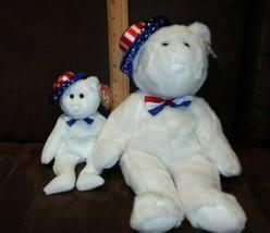 "Lot of 2 - Ty beanie buddy and baby ""Benjamin"" plush bear  - $14.99"