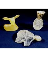 VTG Avon Lot of 3 Perfume Cologne bottles Pineapple Turtle Deer - $20.20